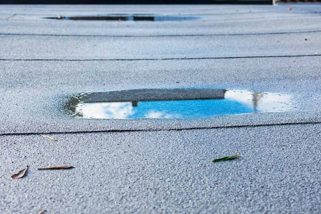5 Beyond Obvious Consequences of Ponding Water on Your Commercial Roof